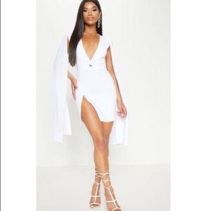 PrettyLittleThing White Cape Blazer Dress